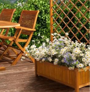 fioriera legno balau