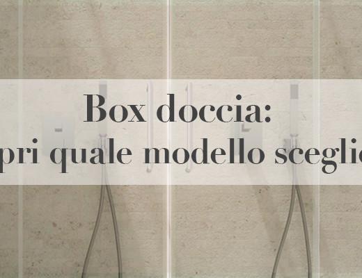 Box Doccia Modelli