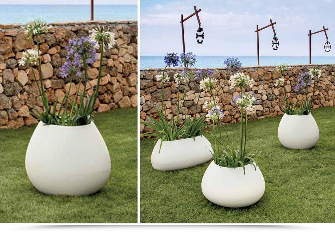 vasi resina giardino