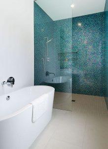 zona doccia mosaico