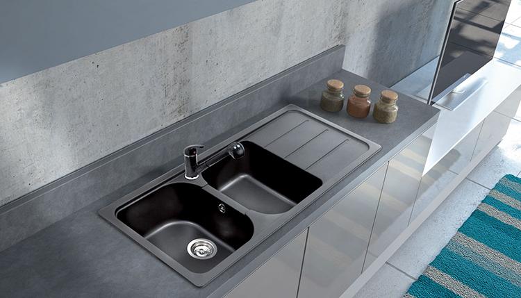 Pietra Plus by Apell: tutto sui lavelli da cucina effetto granito ...