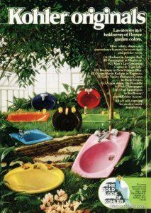 bagno colorato retro