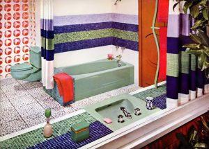bagno colorato vintage