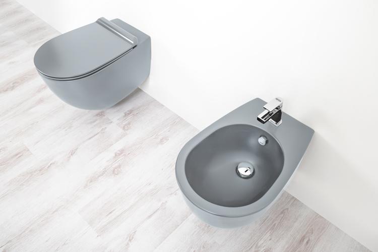 sanitari bagno colorato
